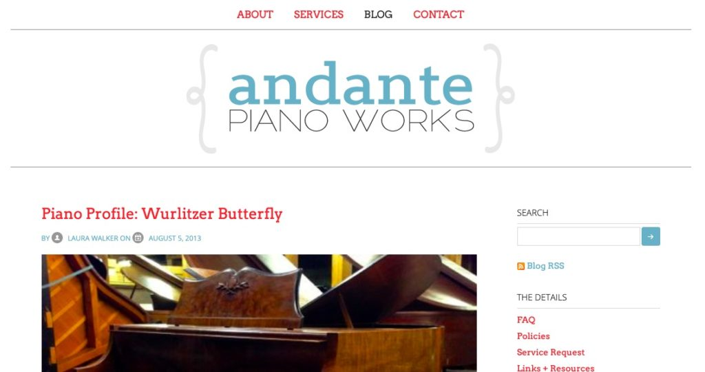 Andante Piano Works, version 1.0