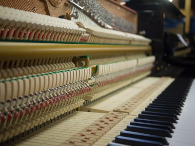 Inside of Upright Piano